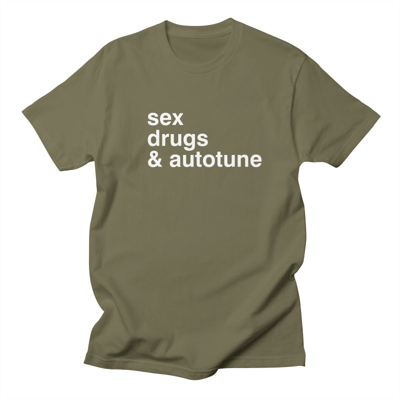 sex, drugs & autotune Men's Regular T-Shirt by sustici's Artist Shop