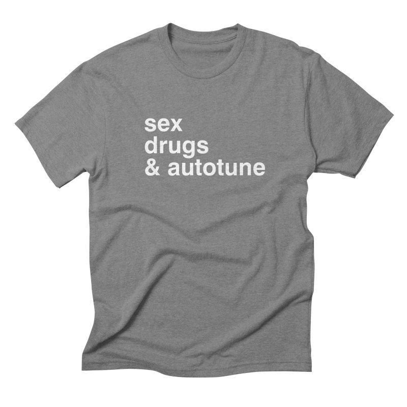 sex, drugs & autotune Men's Triblend T-Shirt by sustici's Artist Shop