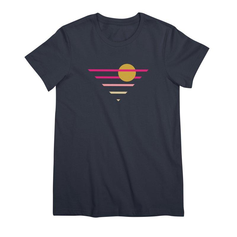 tequila sunrise Women's Premium T-Shirt by sustici's Artist Shop
