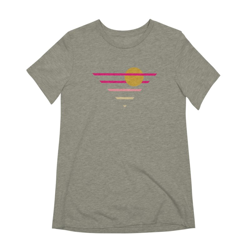 tequila sunrise Women's Extra Soft T-Shirt by sustici's Artist Shop