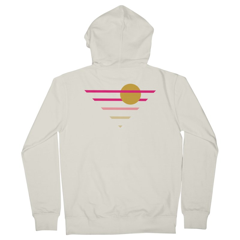 tequila sunrise Women's French Terry Zip-Up Hoody by sustici's Artist Shop