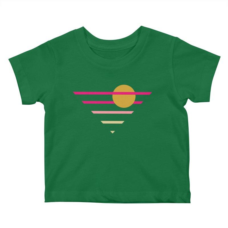 tequila sunrise Kids Baby T-Shirt by sustici's Artist Shop