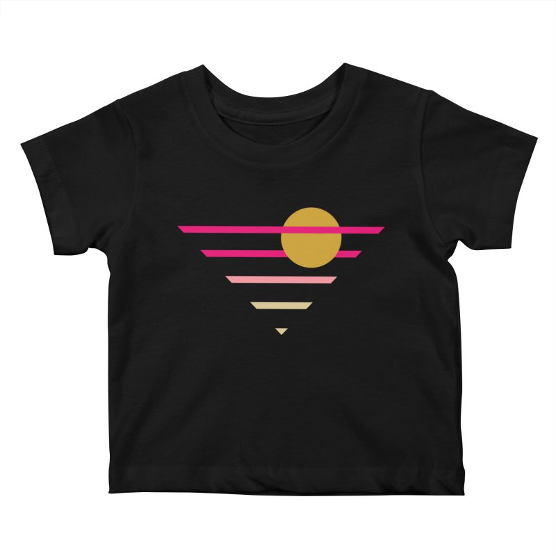 tequila sunrise Kids Baby T-Shirt by sustici's Artist Shop