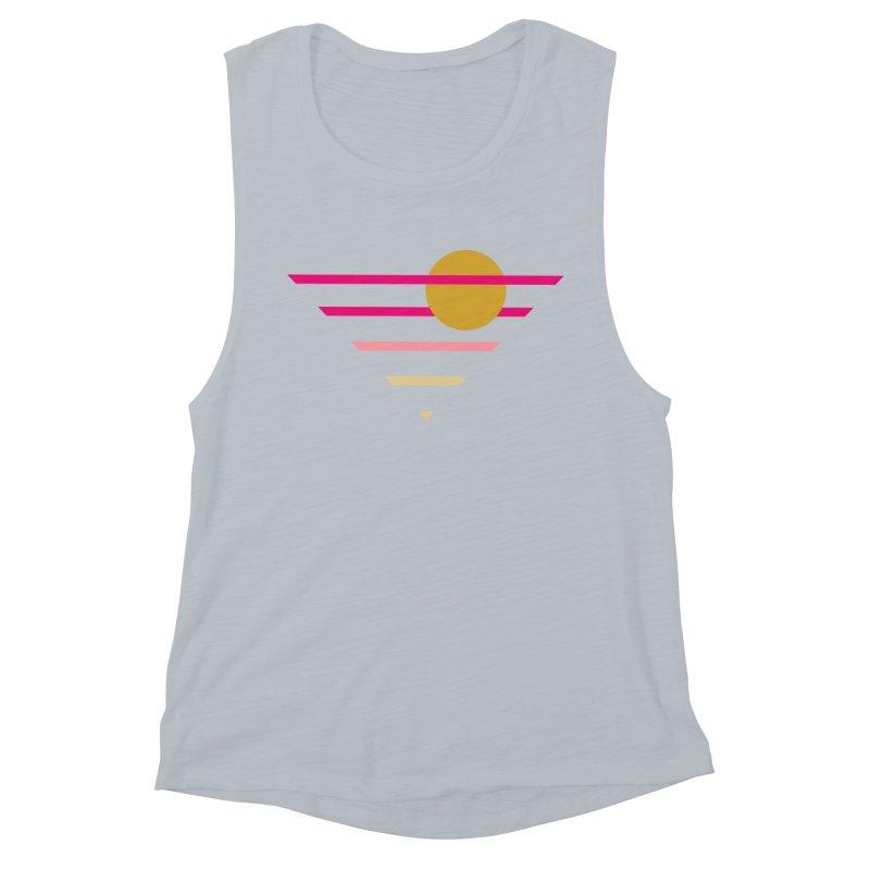 tequila sunrise Women's Muscle Tank by sustici's Artist Shop