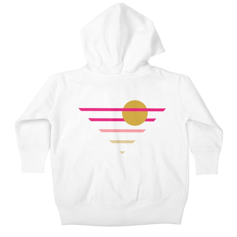 tequila sunrise Kids Baby Zip-Up Hoody by sustici's Artist Shop