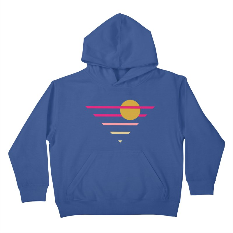 tequila sunrise Kids Pullover Hoody by sustici's Artist Shop