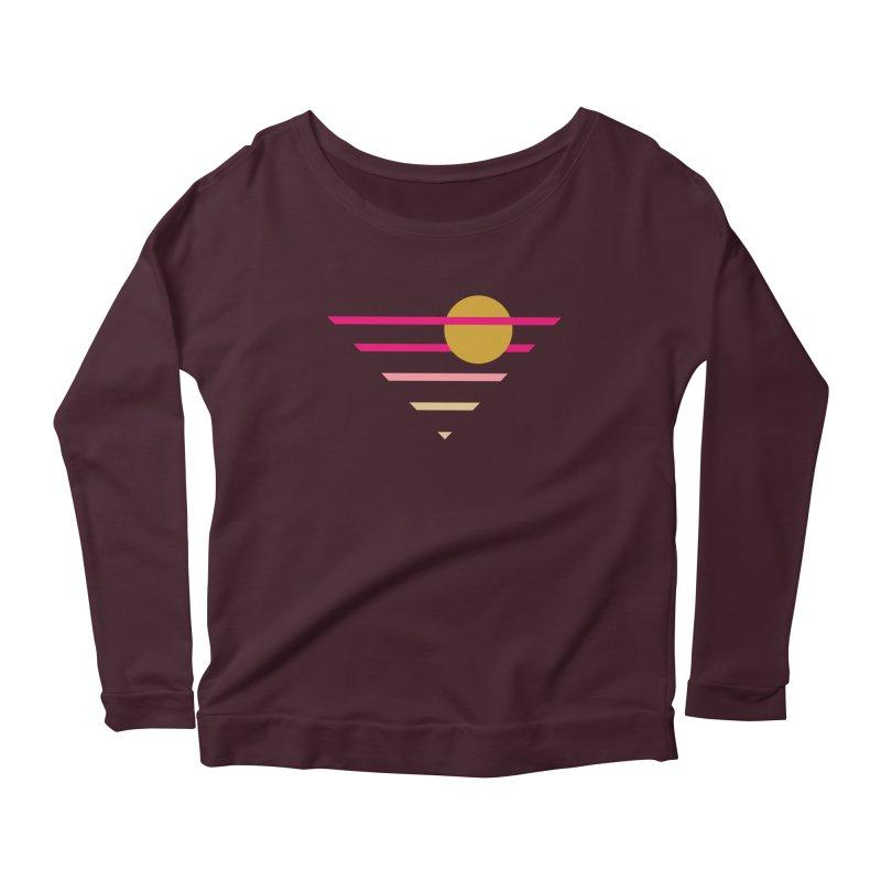 tequila sunrise Women's Scoop Neck Longsleeve T-Shirt by sustici's Artist Shop