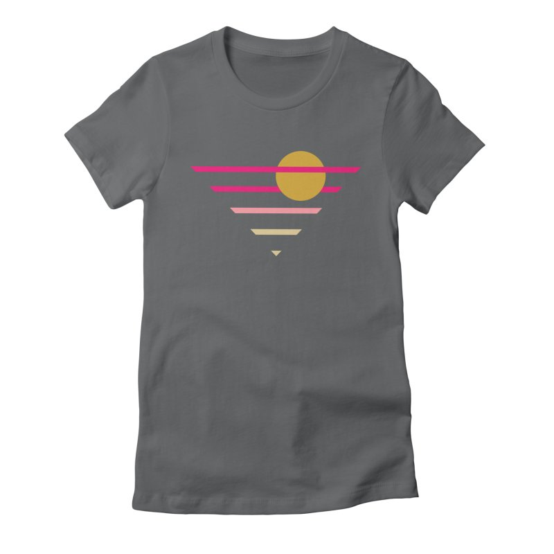 tequila sunrise Women's Fitted T-Shirt by sustici's Artist Shop