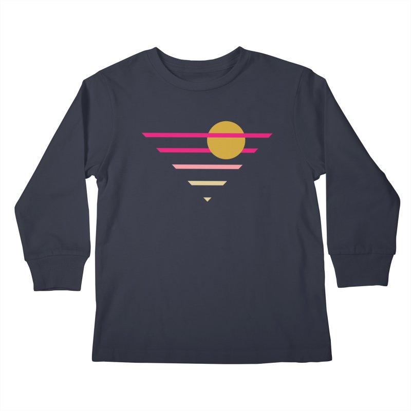tequila sunrise Kids Longsleeve T-Shirt by sustici's Artist Shop