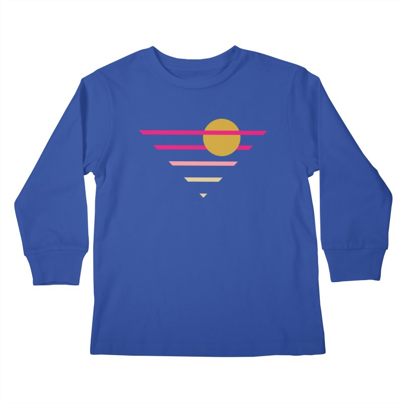 tequila sunrise Kids Longsleeve T-Shirt by sustici's Artist Shop