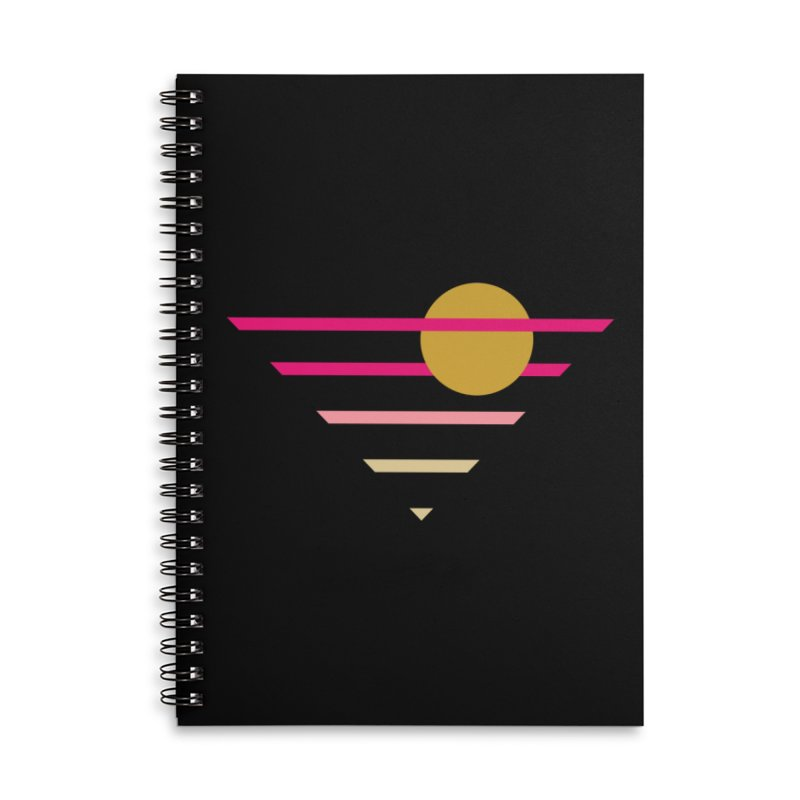 tequila sunrise Accessories Lined Spiral Notebook by sustici's Artist Shop