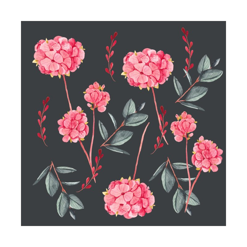 Floral on black by Suzanne Carter's Artist Shop