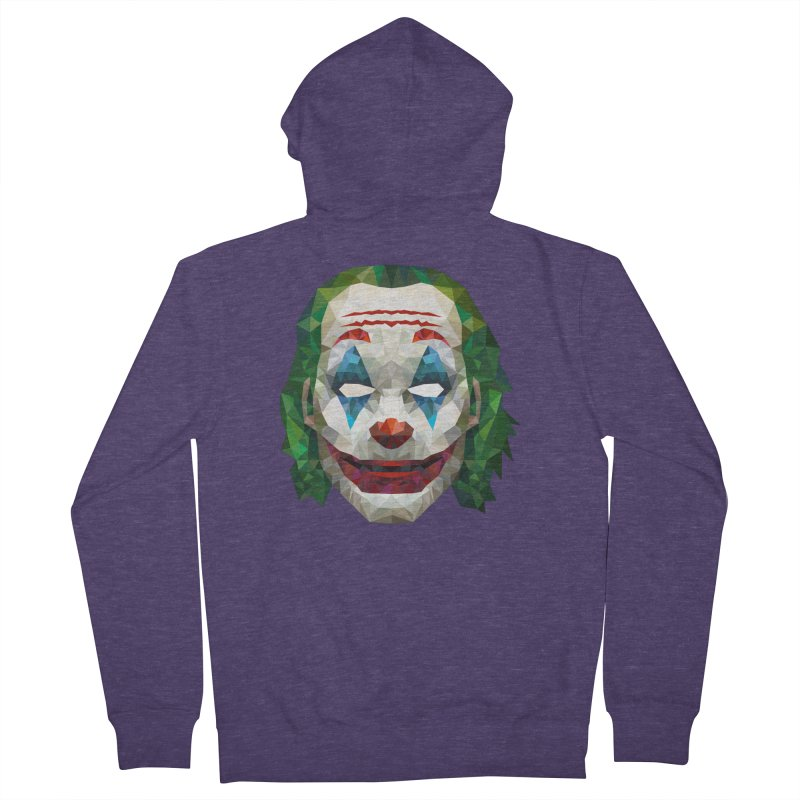 The Joker Design Men's Zip-Up Hoody by Suzanne Murphy Artist Shop