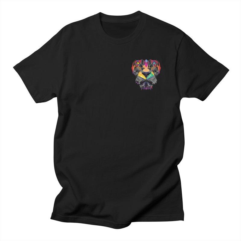 Mini Lion Design Men's T-Shirt by Suzanne Murphy Artist Shop