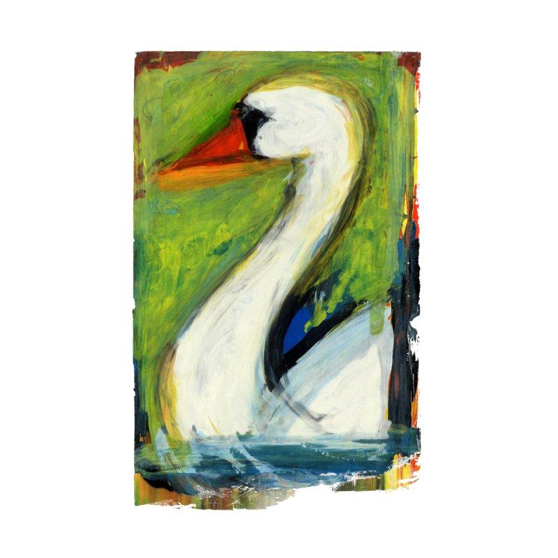 The Swan Men's V-Neck by Suzanne Murphy Artist Shop