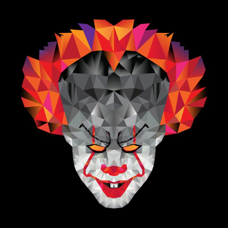 Scary Clown Designs Accessories Face Mask by Suzanne Murphy Artist Shop