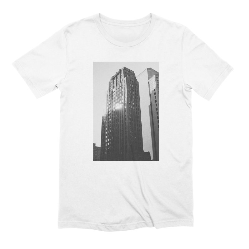New York Skyscraper #1 in Men's Extra Soft T-Shirt White by Suzanne Murphy Artist Shop