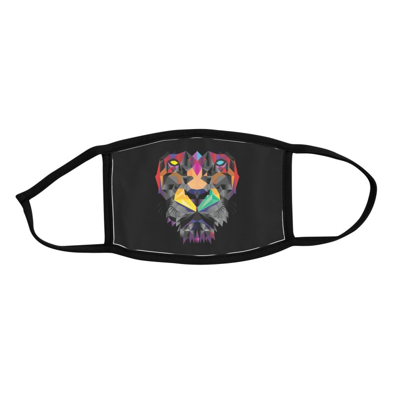 The Lion Design Accessories Face Mask by Suzanne Murphy Artist Shop