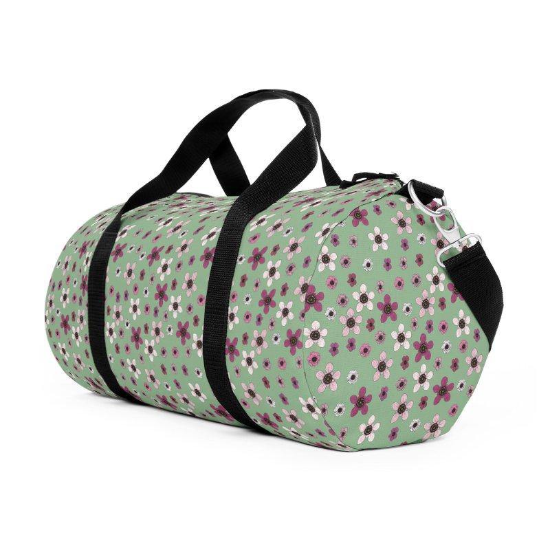 Tea Tree Flowers Accessories Duffel Bag Bag by Svaeth's Artist Shop
