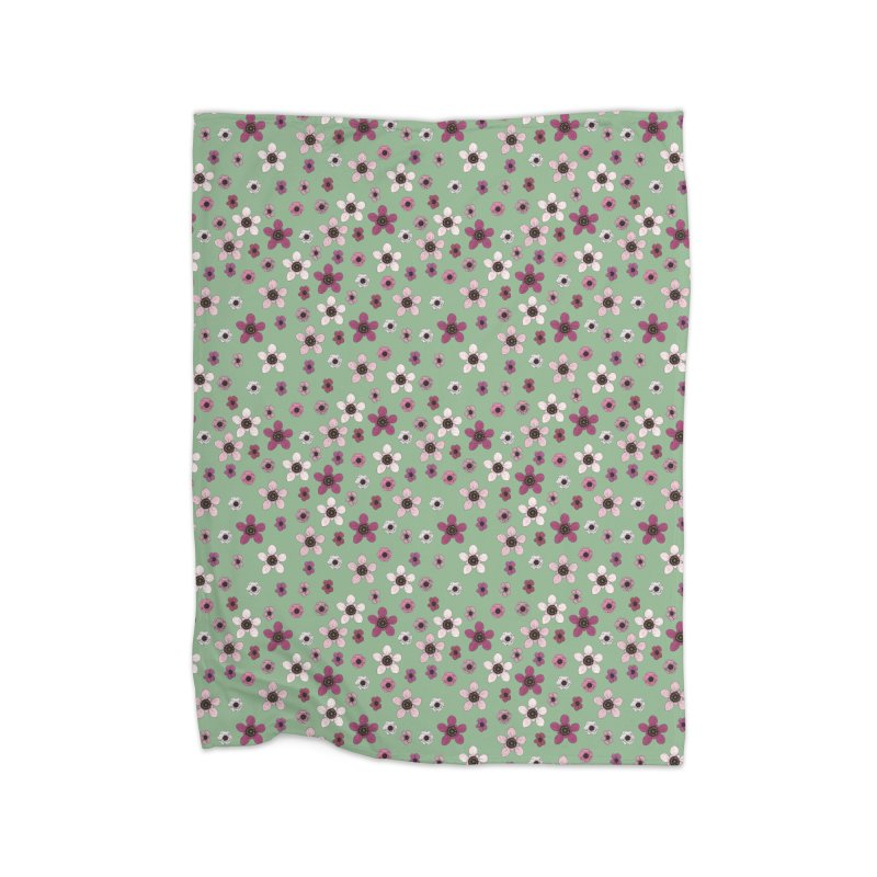 Tea Tree Flowers Home Fleece Blanket Blanket by Svaeth's Artist Shop