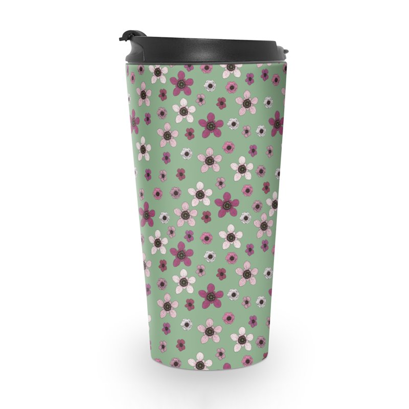 Tea Tree Flowers Accessories Travel Mug by Svaeth's Artist Shop