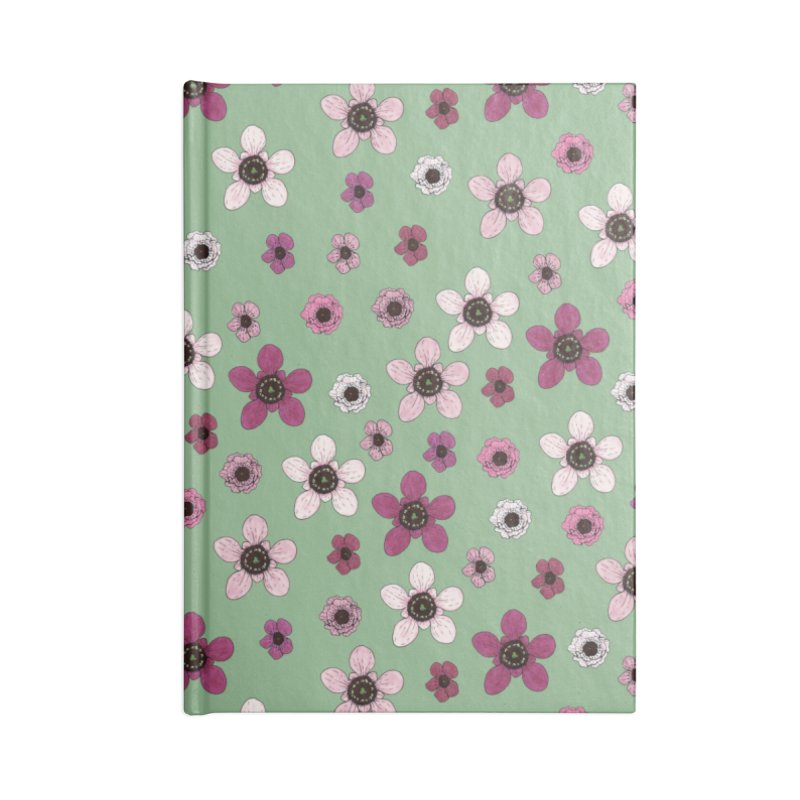 Tea Tree Flowers Accessories Lined Journal Notebook by Svaeth's Artist Shop