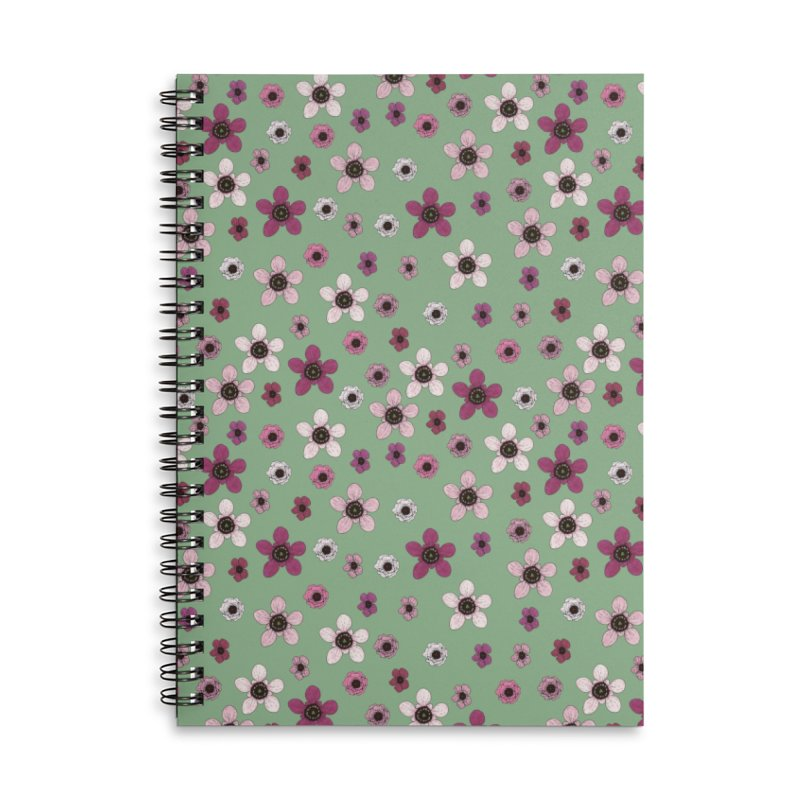 Tea Tree Flowers Accessories Lined Spiral Notebook by Svaeth's Artist Shop