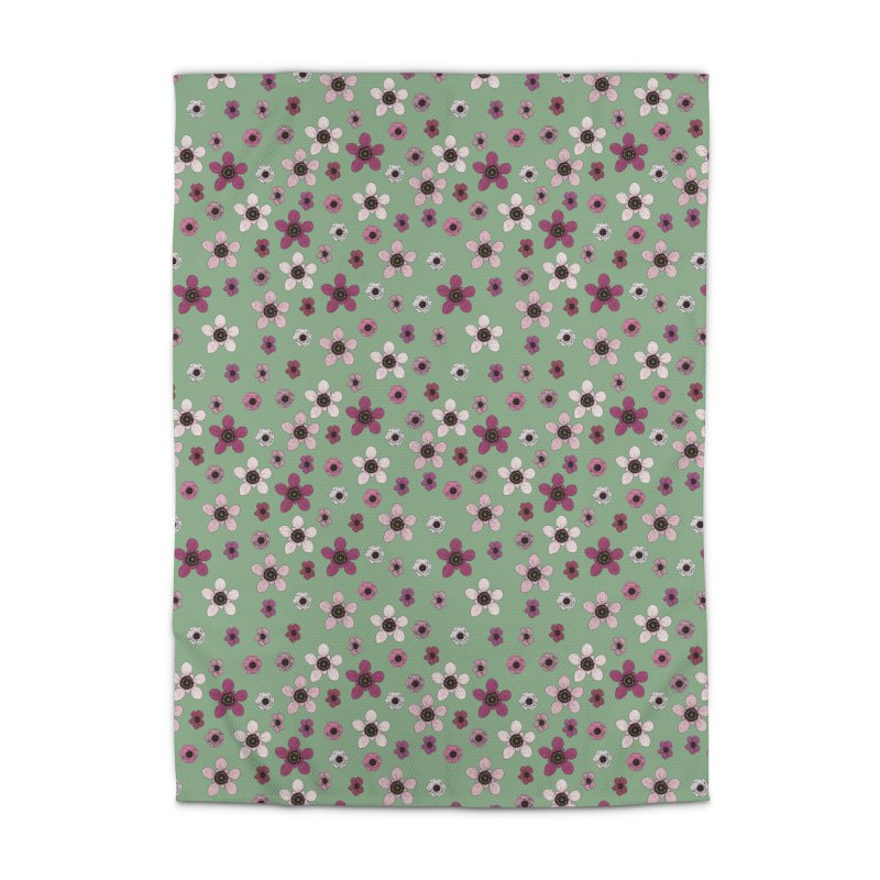 Tea Tree Flowers Home Rug by Svaeth's Artist Shop