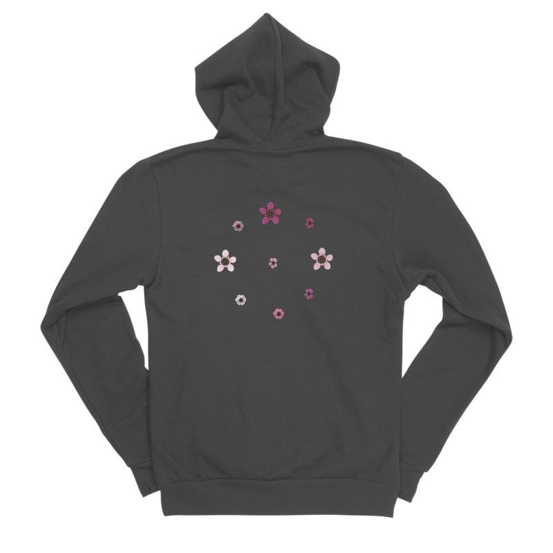 Tea Tree Flowers Men's Sponge Fleece Zip-Up Hoody by Svaeth's Artist Shop
