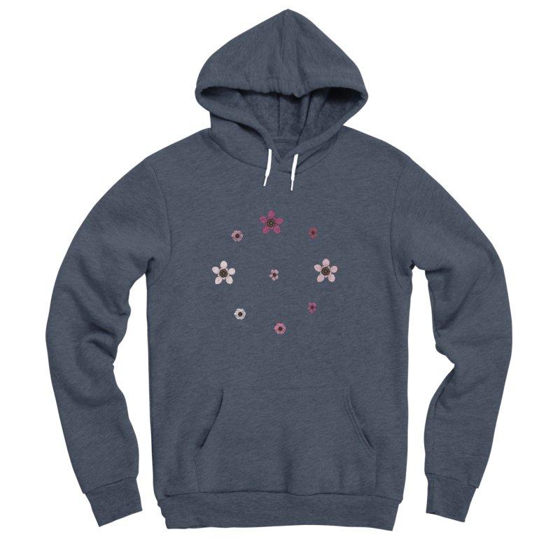 Tea Tree Flowers Men's Sponge Fleece Pullover Hoody by Svaeth's Artist Shop