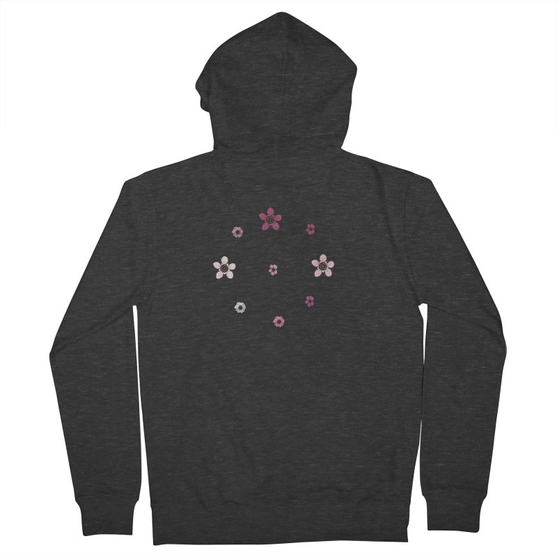 Tea Tree Flowers Women's French Terry Zip-Up Hoody by Svaeth's Artist Shop