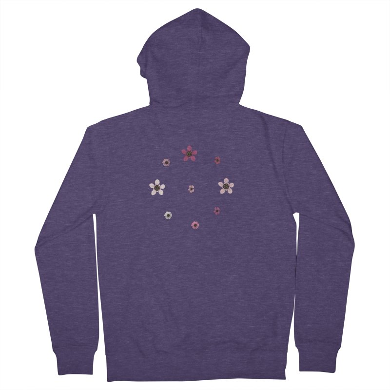 Tea Tree Flowers Men's French Terry Zip-Up Hoody by Svaeth's Artist Shop