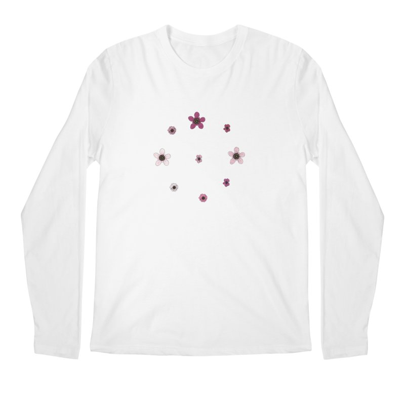 Tea Tree Flowers Men's Regular Longsleeve T-Shirt by Svaeth's Artist Shop