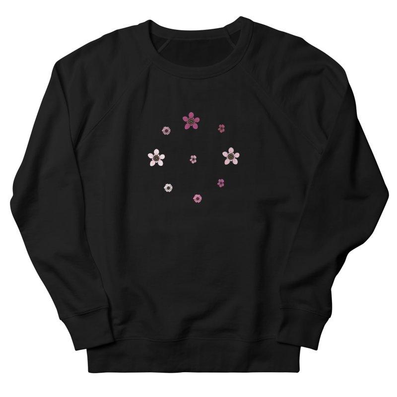 Tea Tree Flowers Women's French Terry Sweatshirt by Svaeth's Artist Shop