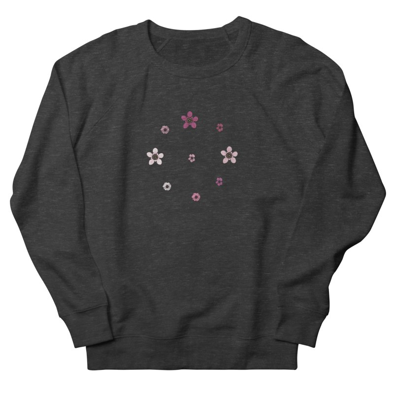 Tea Tree Flowers Men's French Terry Sweatshirt by Svaeth's Artist Shop