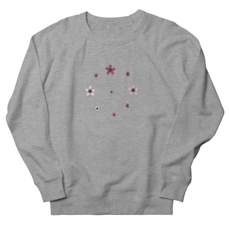 Tea Tree Flowers Men's French Terry Sweatshirt by Svaeth's Artist Shop