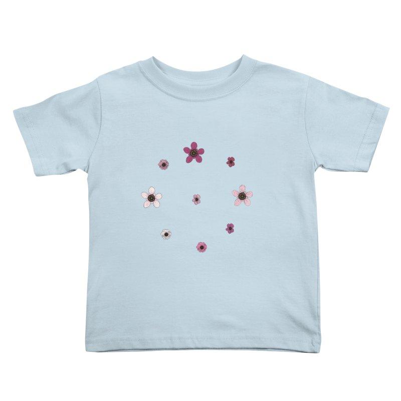 Tea Tree Flowers Kids Toddler T-Shirt by Svaeth's Artist Shop