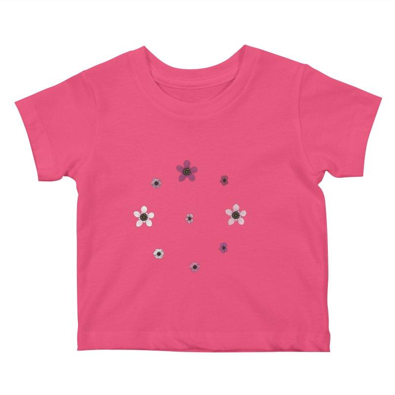 Tea Tree Flowers Kids Baby T-Shirt by Svaeth's Artist Shop