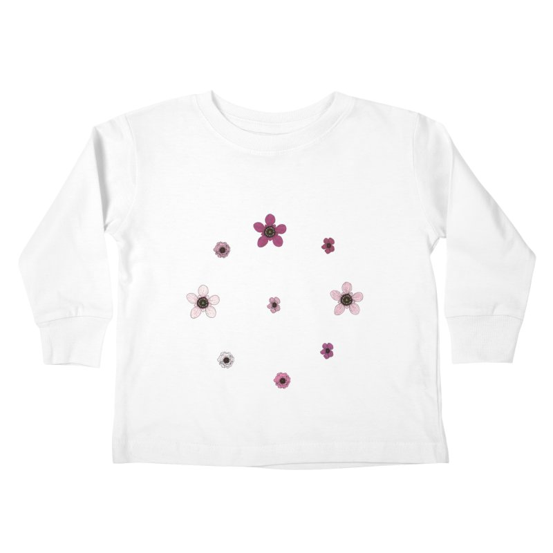 Tea Tree Flowers Kids Toddler Longsleeve T-Shirt by Svaeth's Artist Shop