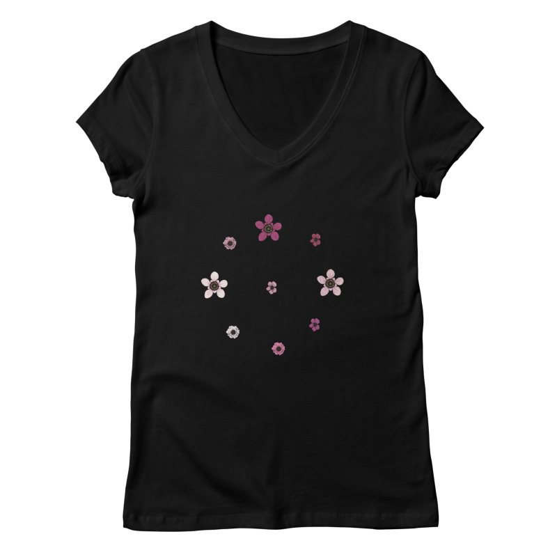 Tea Tree Flowers Women's V-Neck by Svaeth's Artist Shop