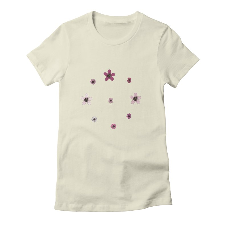 Tea Tree Flowers Women's Fitted T-Shirt by Svaeth's Artist Shop