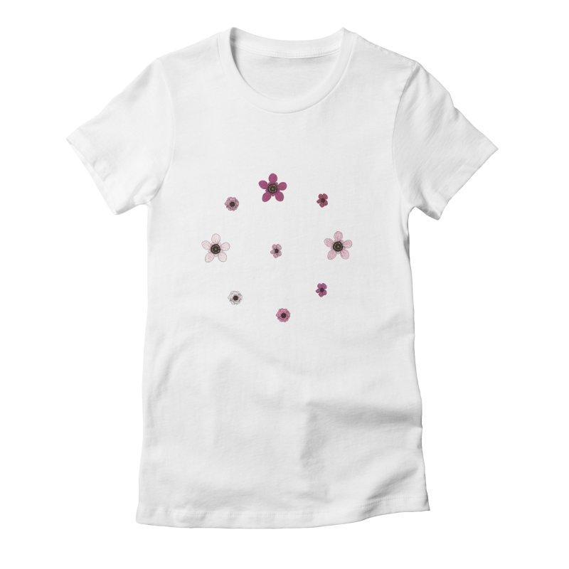 Tea Tree Flowers Women's T-Shirt by Svaeth's Artist Shop