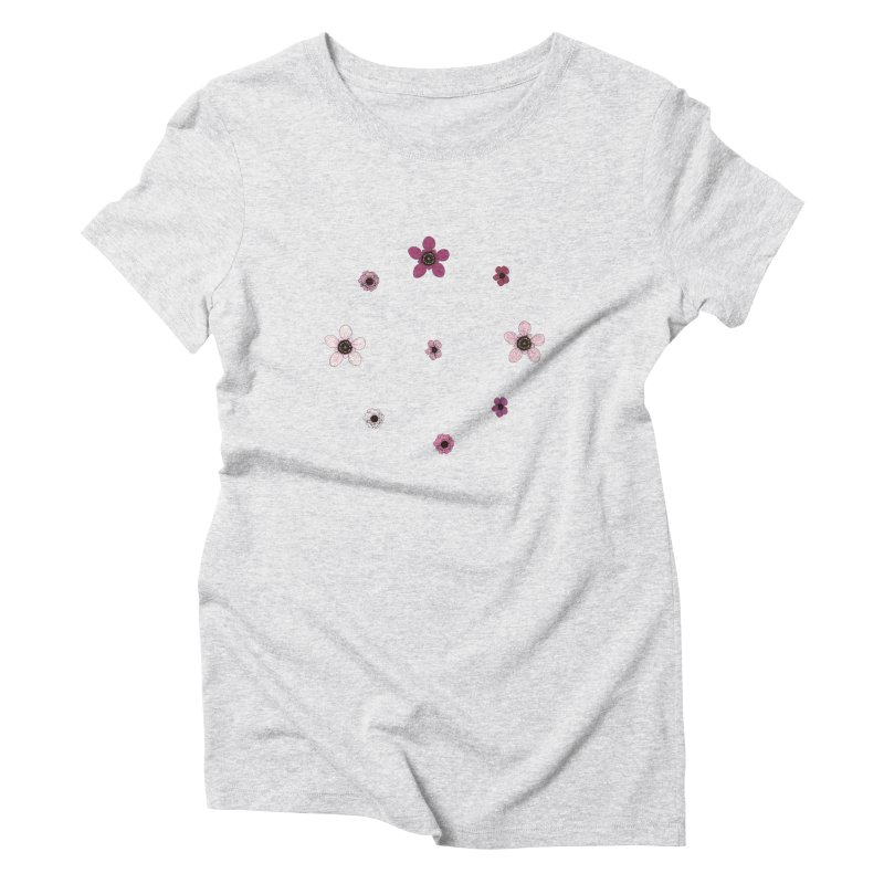 Tea Tree Flowers Women's Triblend T-Shirt by Svaeth's Artist Shop