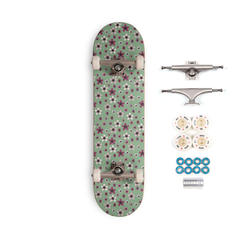 Tea Tree Flowers Accessories Complete - Premium Skateboard by Svaeth's Artist Shop