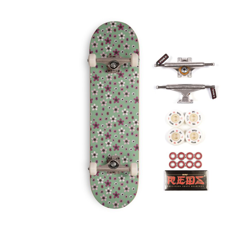 Tea Tree Flowers Accessories Complete - Pro Skateboard by Svaeth's Artist Shop