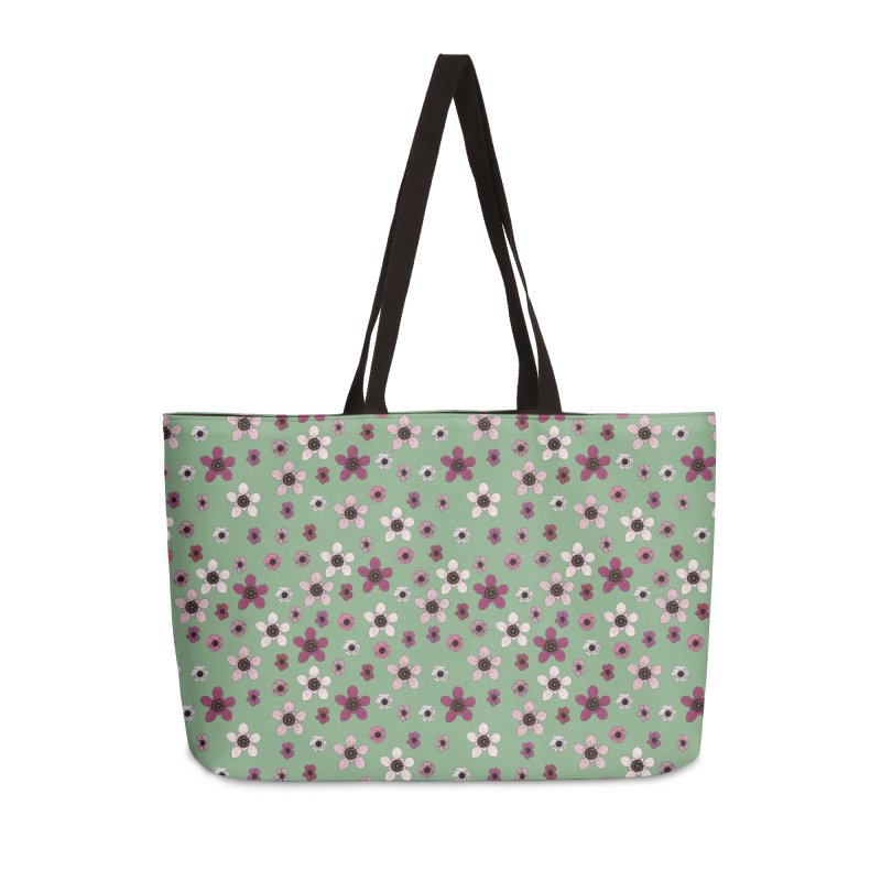 Tea Tree Flowers Accessories Weekender Bag Bag by Svaeth's Artist Shop