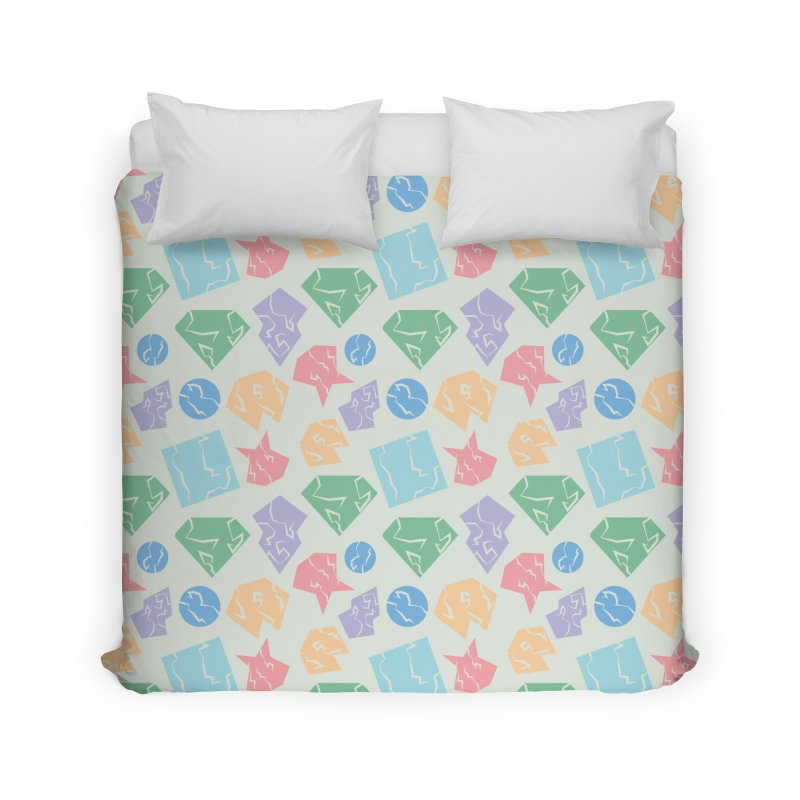 Broken Shapes Home Duvet by Svaeth's Artist Shop