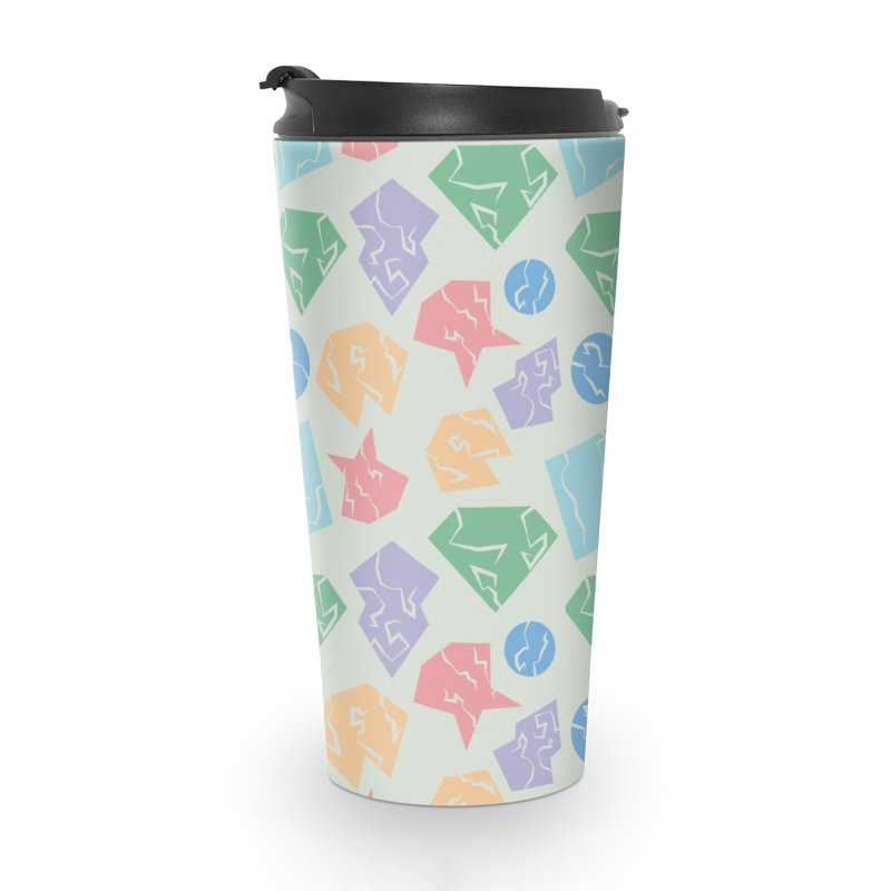 Broken Shapes Accessories Travel Mug by Svaeth's Artist Shop