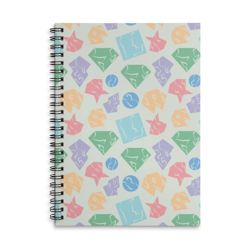 Broken Shapes Accessories Lined Spiral Notebook by Svaeth's Artist Shop
