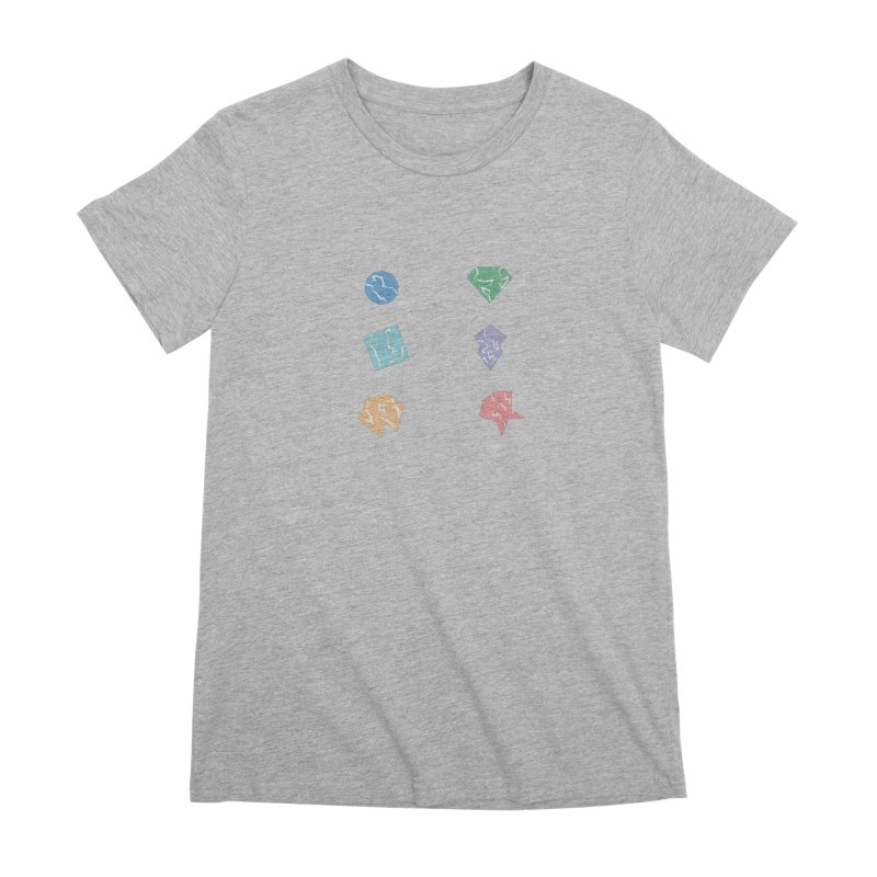 Broken Shapes Women's Premium T-Shirt by Svaeth's Artist Shop